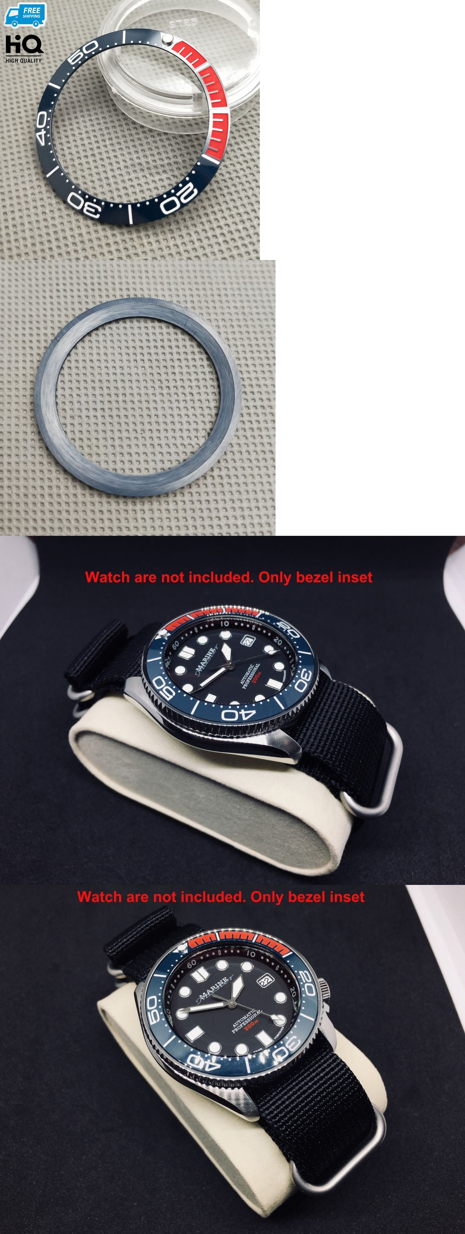 Bezels and Inserts 57714: Blue Red Ceramic Pepsi Bezel Insert For