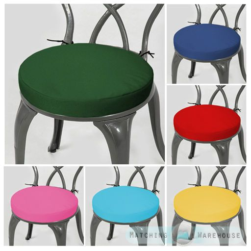 Round Garden Chair Cushion Pad ONLY Waterproof Outdoor Bistro Stool Patio  Dining Part 96