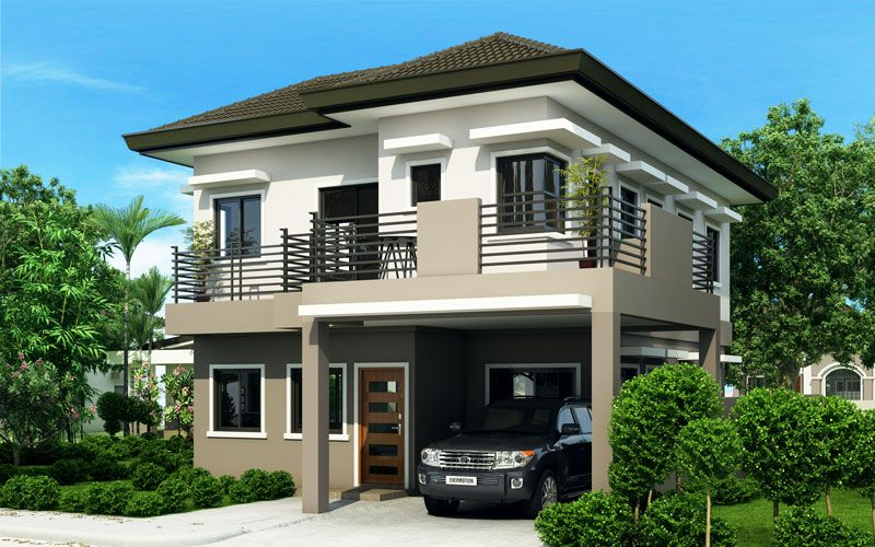 excellent modern houses design. House Sheryl  Four Bedroom Two Story Design Pinoy ePlans Modern