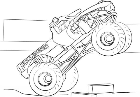 Bulldozer Monster Truck Pagina Para Colorir Cars Coloring Pages