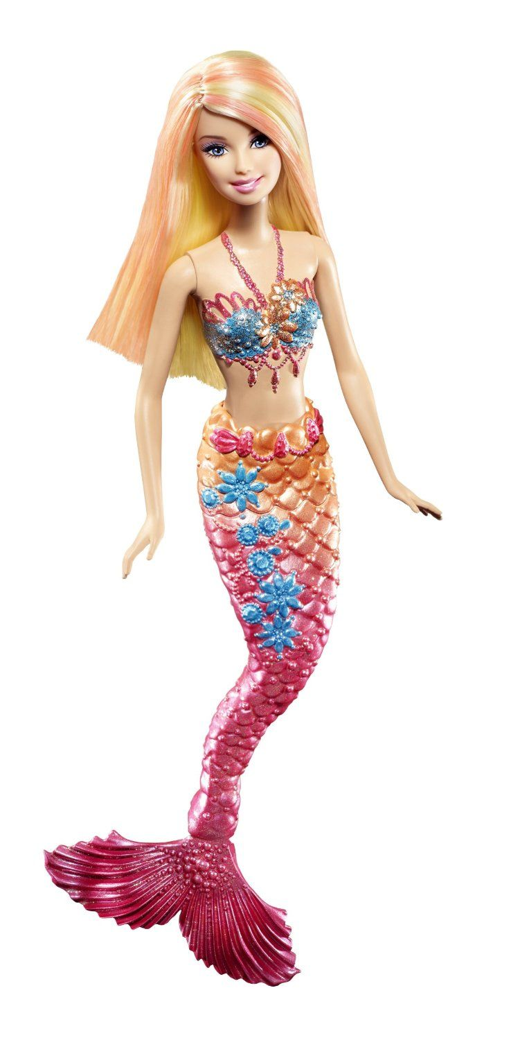 Smile Barbie Pink Color Change Mermaid Doll Toys