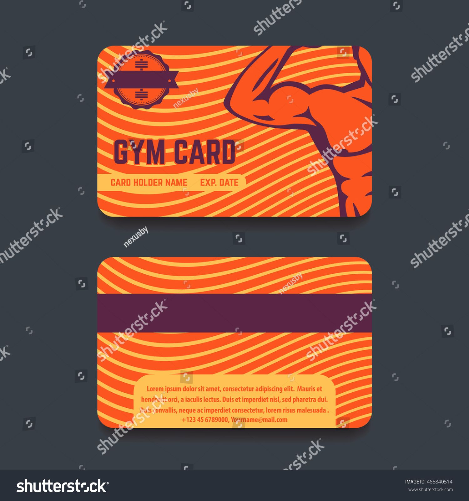 The Excellent Fitness Club Gym Card Template Design Miscellaneous Within Gym Membership Card Gym Membership Card Membership Card Business Card Template Word