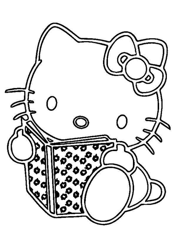 print coloring image - MomJunction   Hello kitty colouring ...