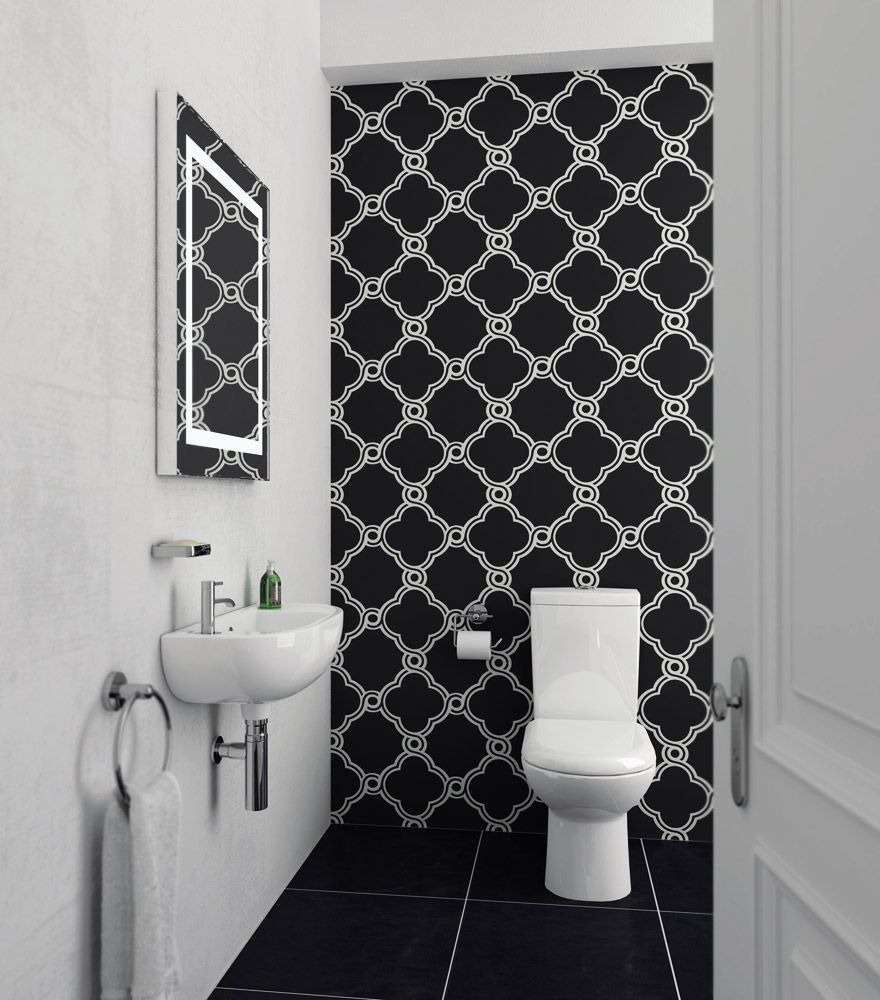 Cool Cloakroom Suite   Gloss White. Cool Cloakroom Suite   Gloss White   Cloakroom suites  Basin and