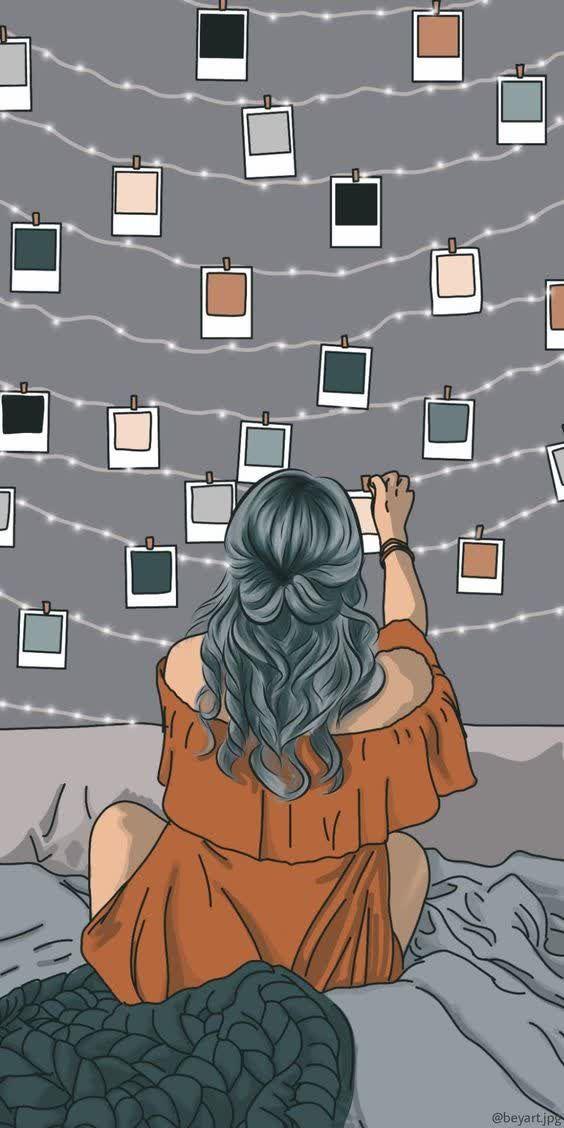 Polaroid and fairy lights | Art inspiration | Hannah Wills Art