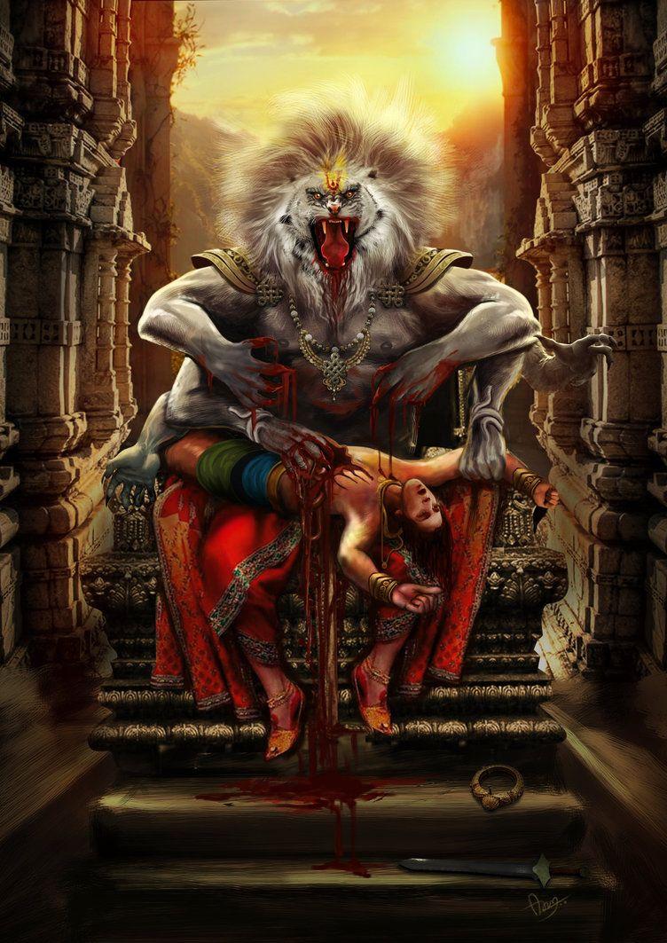 Narasimha By Aruncpdy Lord Vishnu Wallpapers God Art Hindu Gods
