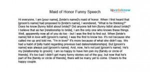 Made Of Honor Quotes Quotesgram Wedding Speech Maid Of Honor Speech Funny Speeches