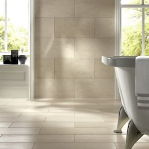 Wickes Taupe Honed Porcelain Wall Floor Tile 300 X 600mm Wickes Co Uk Tile Floor Bathroom Redesign Wickes