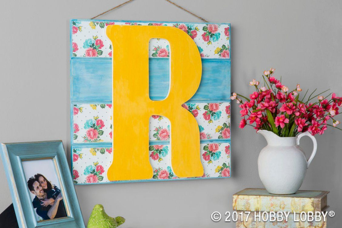 Create inspirational wall decor with wooden letters, paint ...