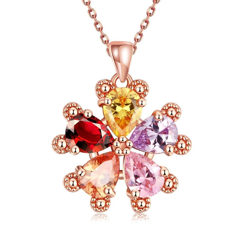 Rose Gold Plated Snowflake Necklace