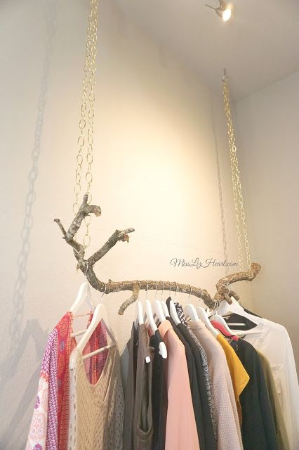 This Diy Tree Branch Rack Is The Cutest Way To Display All Your