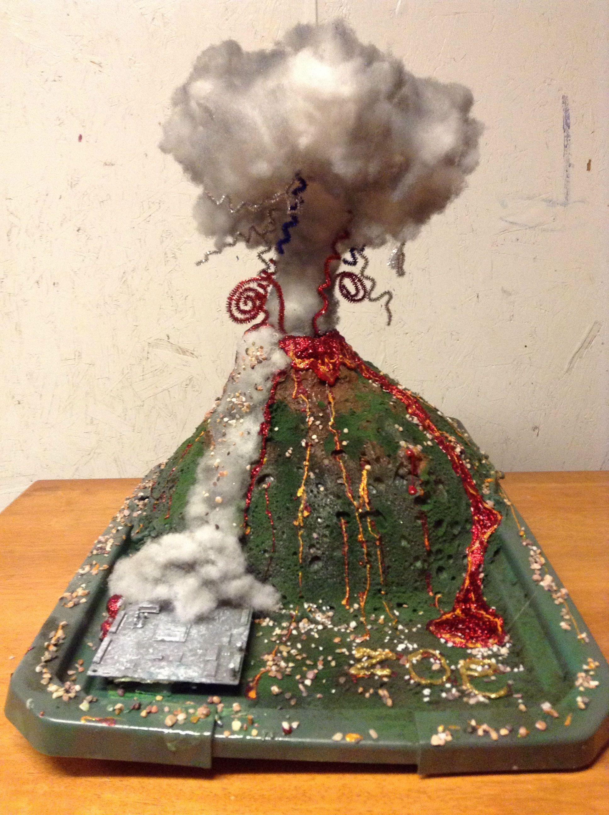 Model Of Mount Vesuvius By Zoe Smith