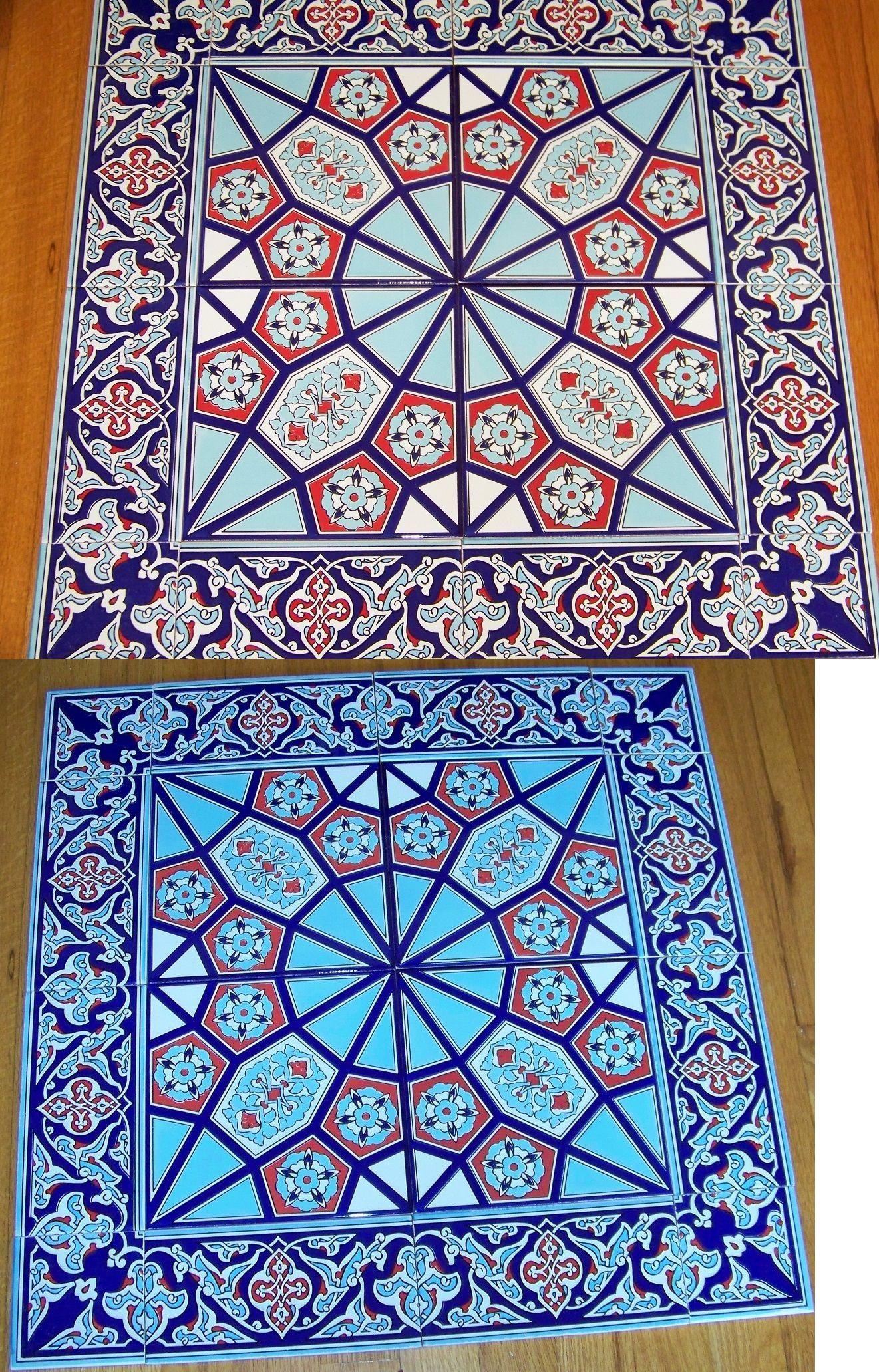 Tile Art 79655: Sale 24 X24 Turkish Iznik Floral And Geometric ...