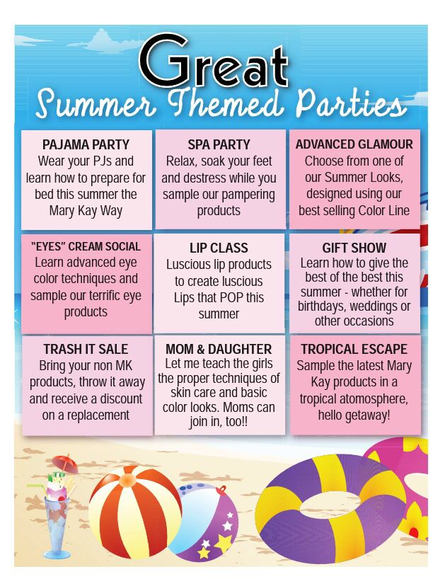 Who Likes To Party Pick You Theme And Msg Me Today Www Marykay
