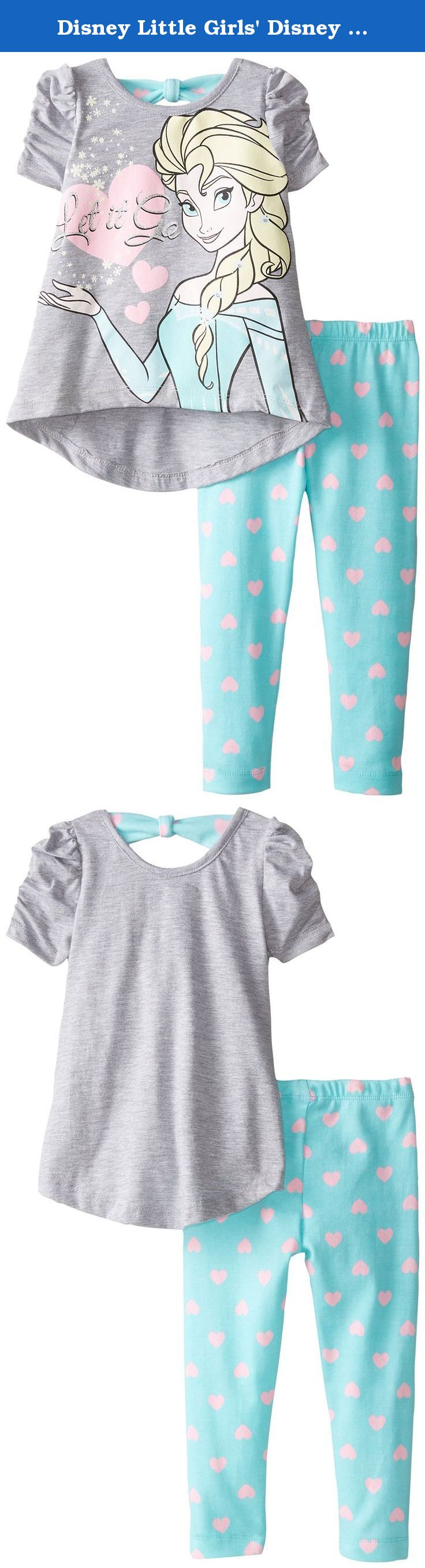 Disney Little Girls' Disney Frozen Elsa Legging Set, Gray, 4T. Disney frozen Elsa legging set.