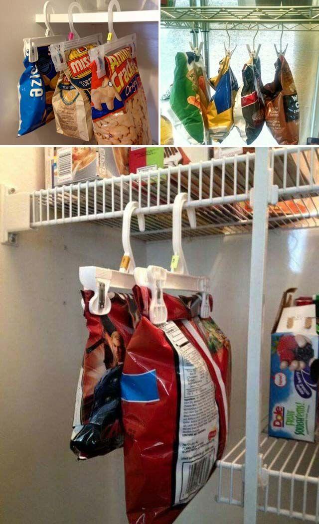 15 Genius Tips for Creating Hanging Pantry Storage - DealCage #kitchenpantrystorage
