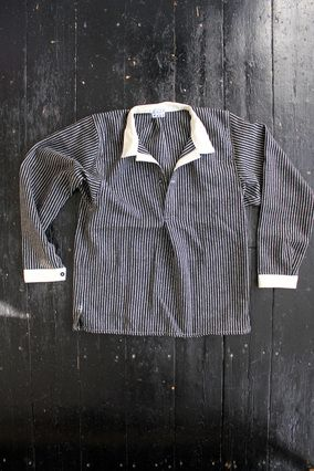 Tender Type 411 Black Stripe Wool Blanket Pullover Shirt. Congratulations, Tender. This is the classiest, easiest-wearing popover on the market.