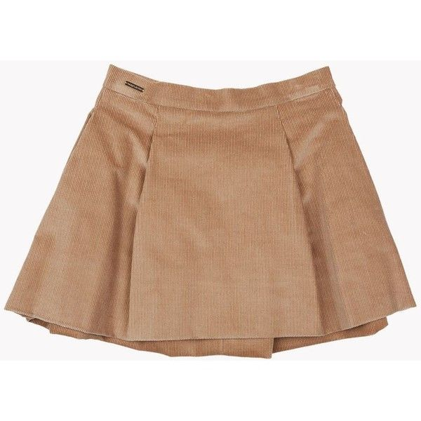 DSQUARED2 Skirt (€210) ❤ liked on Polyvore featuring camel