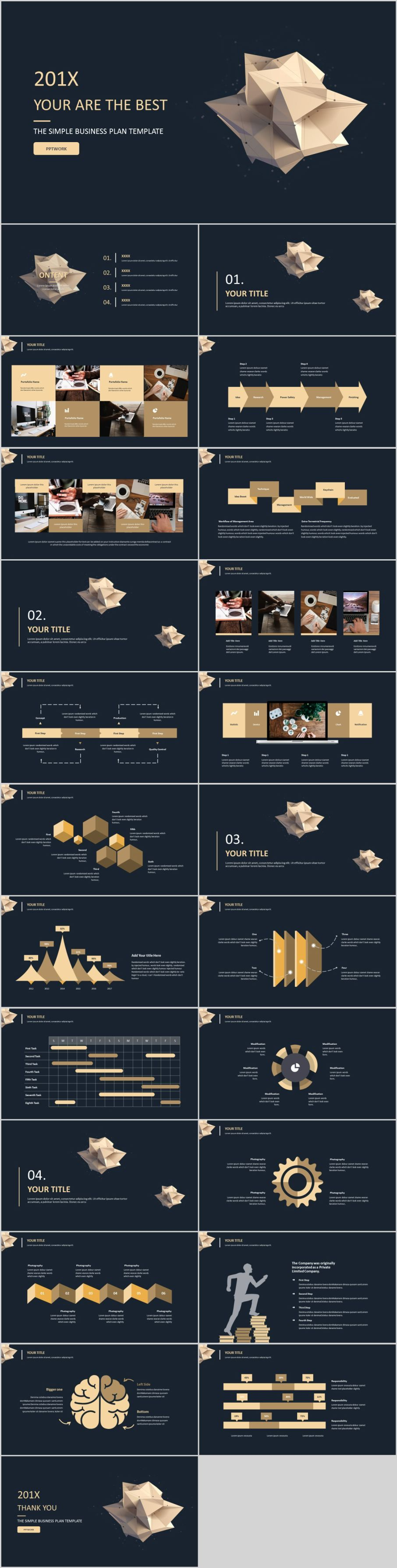 24 Best black business report PowerPoint templatesThe highest quality PowerPoint Templates and Keynote Templates download