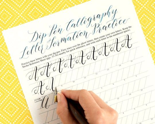 Premium calligraphy worksheet set kaitlin style worksheets and