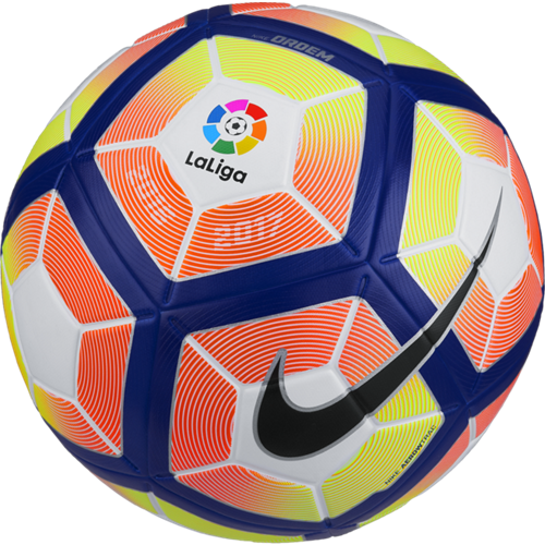 Nike Liga Bbva Ordem 4 Ball White Orange Blue Black Soccer Ball Soccer Football Strike