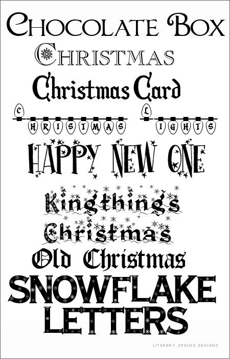 christmas and winter fonts share today 39 s craft and diy. Black Bedroom Furniture Sets. Home Design Ideas
