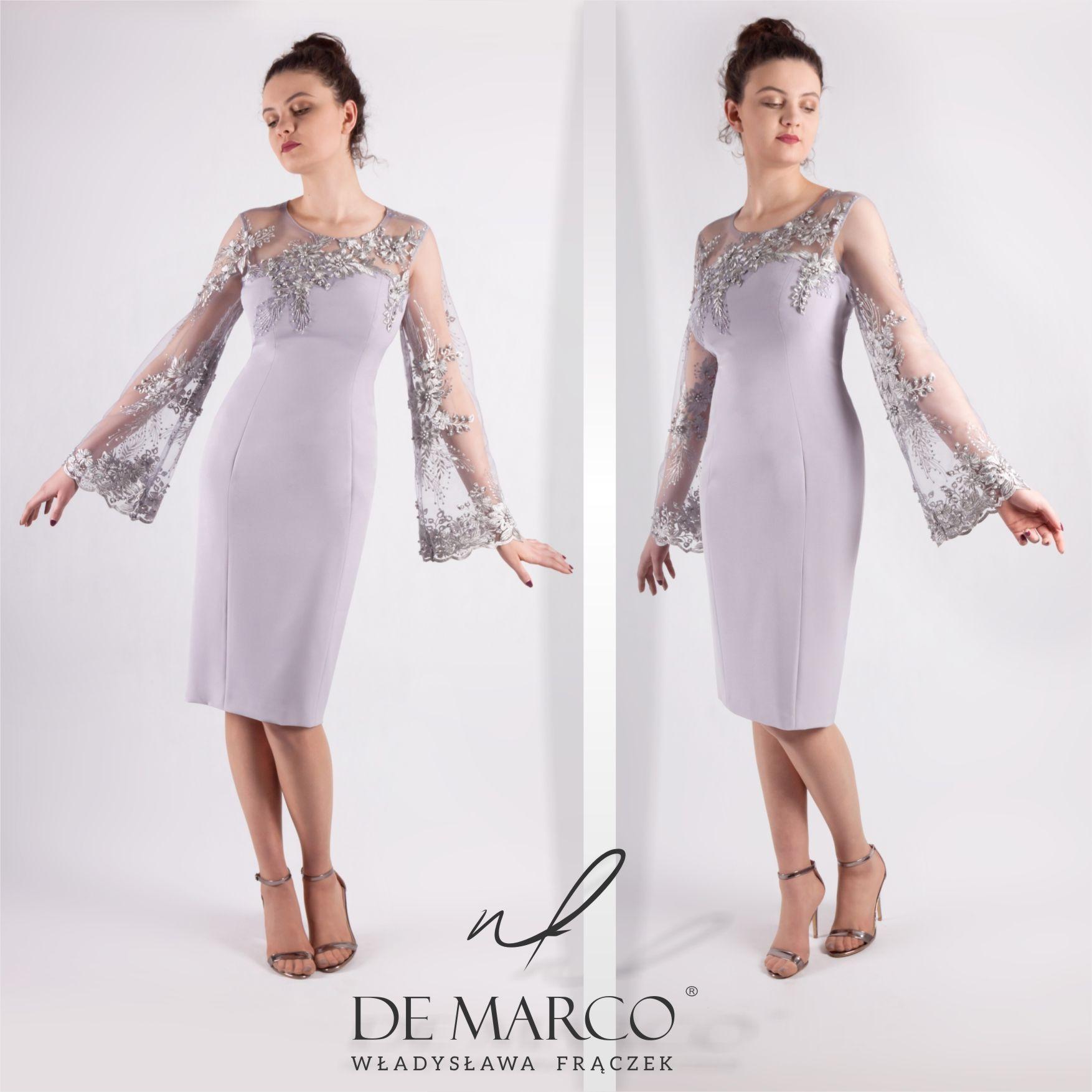 Eleganckie Sukienki Na Wesele Dla Mamy Sklep Polskiej Projektantki Spod Krakowa Salon De Marco Dresses Fashion Cold Shoulder Dress