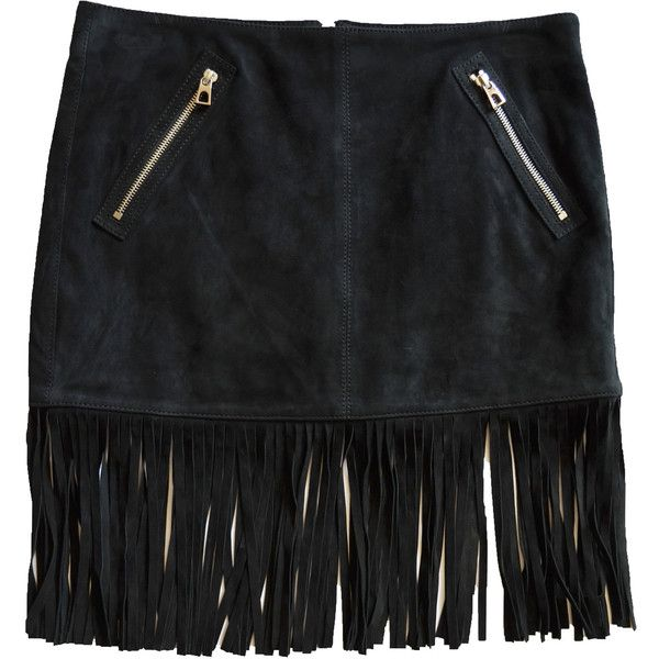 Barbara Bui Black Suede Fringe Skirt (11 520 SEK) ❤ liked on Polyvore featuring skirts, mini skirts, black, mini skirt, short fringe skirt, short skirts, barbara bui and suede fringe mini skirt