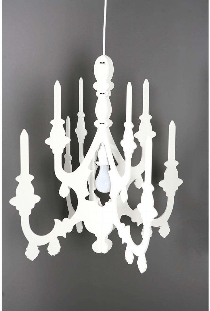 Faux Chandelier Spray Paint And Glitter Would Do Wonders