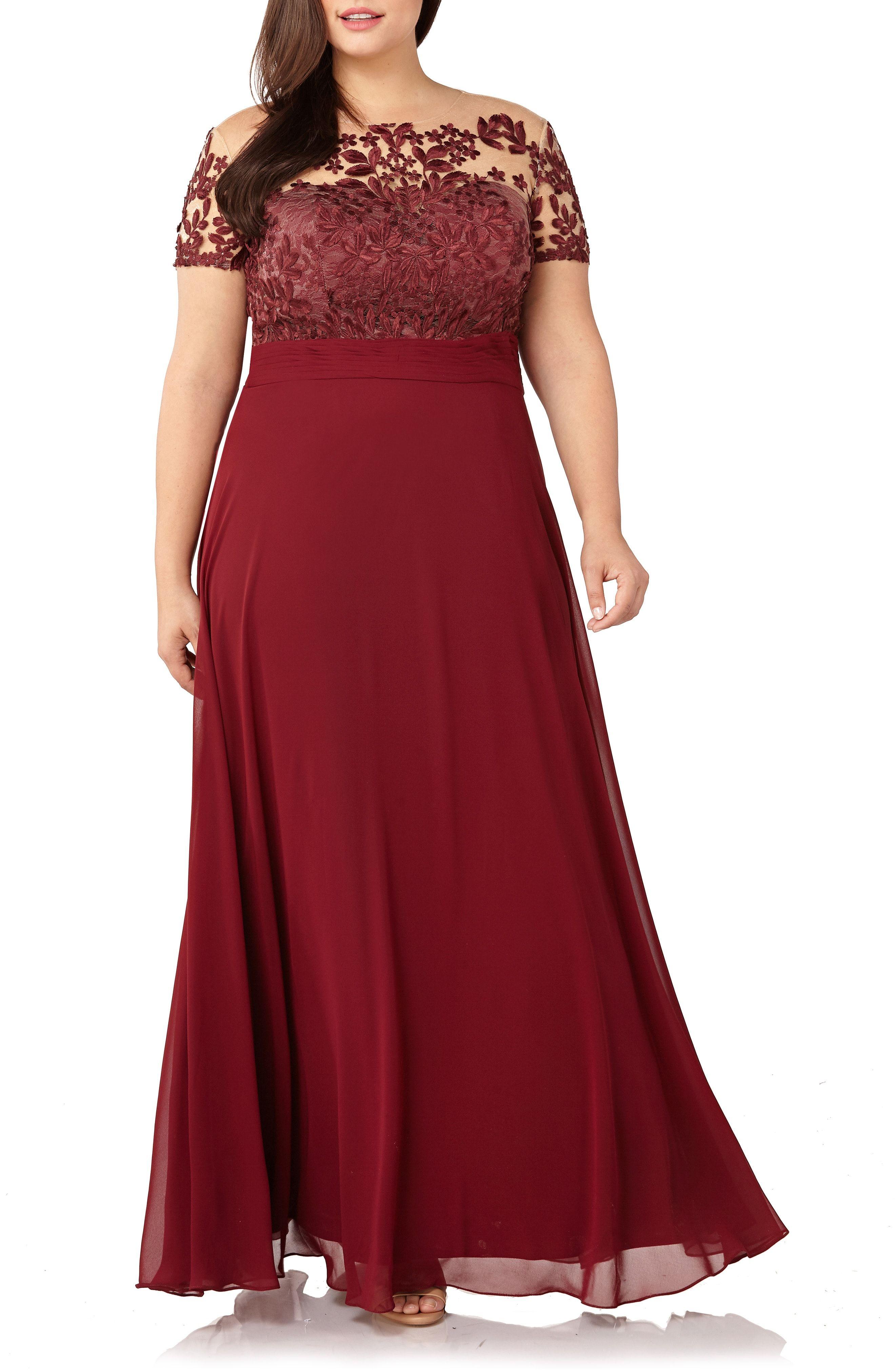 Stunning burgundy illusion gown for MotheroftheBride