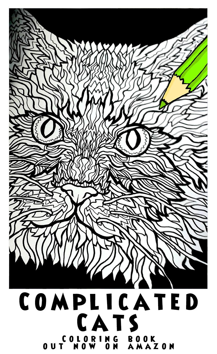Ragdoll Cat   Image From Complicated Cats   A Fiddly Feline Coloring Book    Illustrated By Antony Briggs Out Now On Amazon. UK Link:  Http://amzn.to/1O1rkDc ...