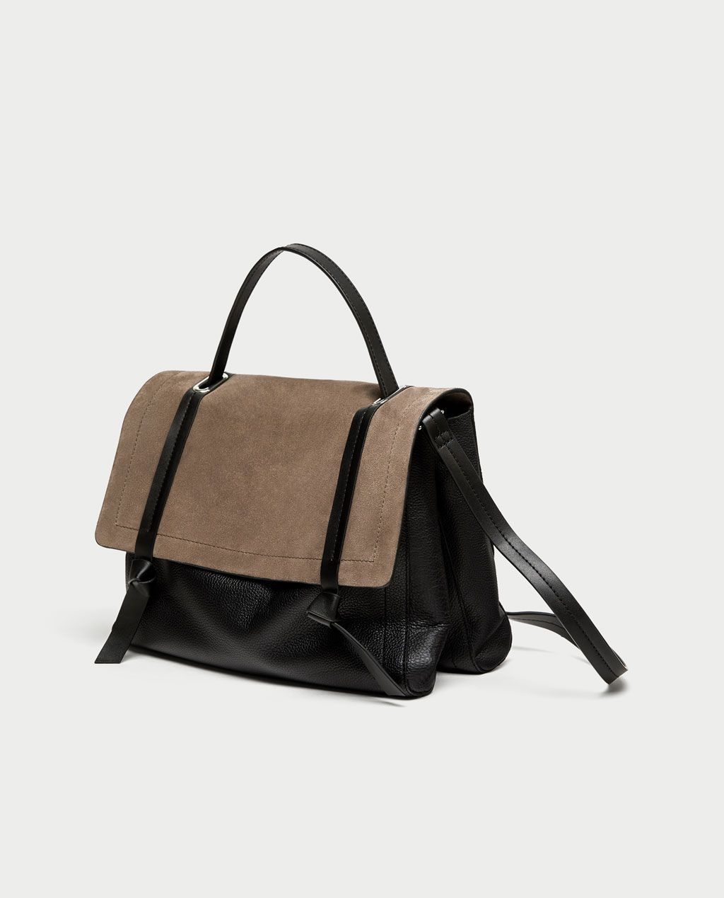 c215cee5fae COMBINED LEATHER CITY BAG-Leather-BAGS-WOMAN | ZARA United States ...