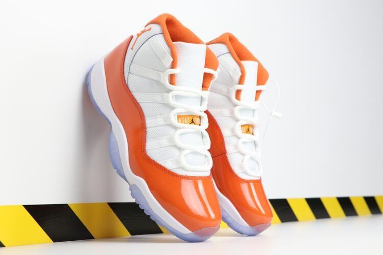 2019 Mens Air Jordan 11 Florida Orange White in Stores-1   Air ...