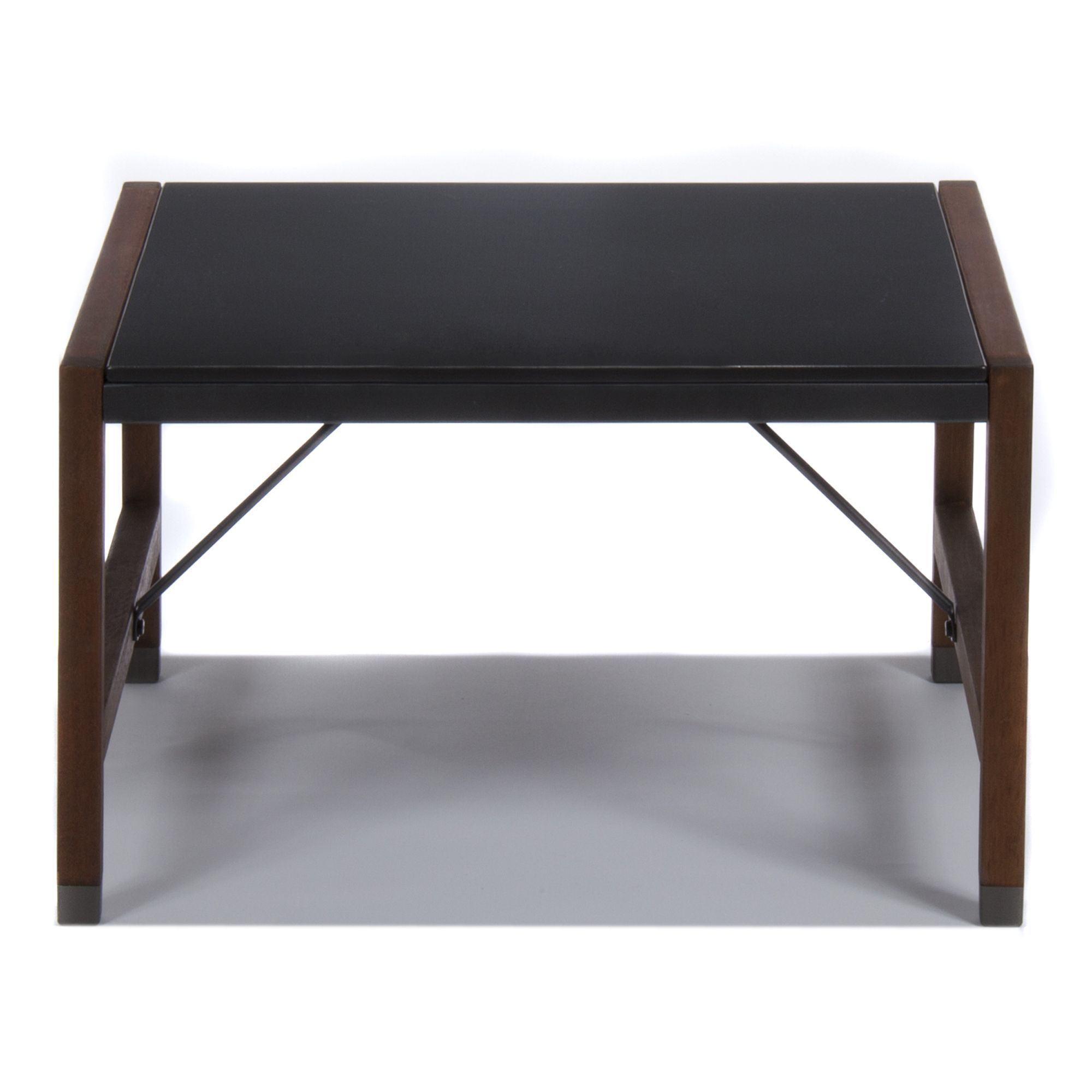 €99 alinea 70x70xh42 fibrociment Table basse de jardin rétro Noir ...