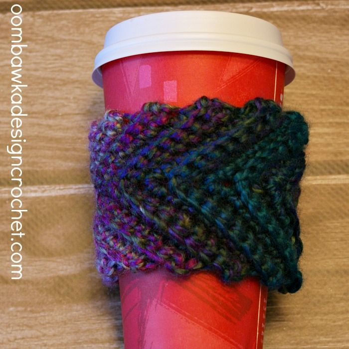 Stash Buster Coffee Cup Sleeve The Yarn Box The Yarn Box For The