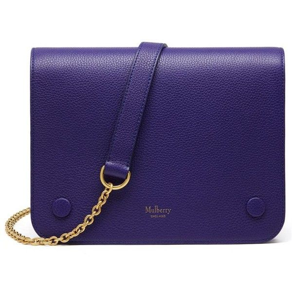 Mulberry Small Clifton Bag (46,445 PHP) ❤ liked on Polyvore featuring bags, handbags, shoulder bags, indigo, leather purses, blue leather shoulder bag, leather crossbody purses, crossbody shoulder bags and blue purse