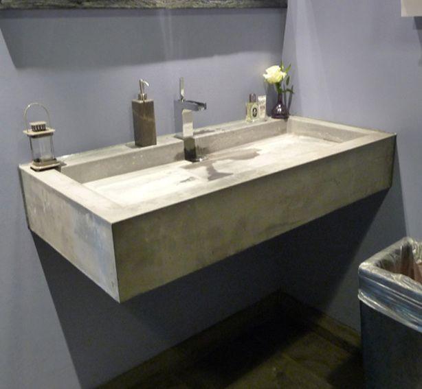 Betonnen wastafel 1 kraan badkamer pinterest betonnen wastafel wastafel en badkamer - Betonnen badkamer ...