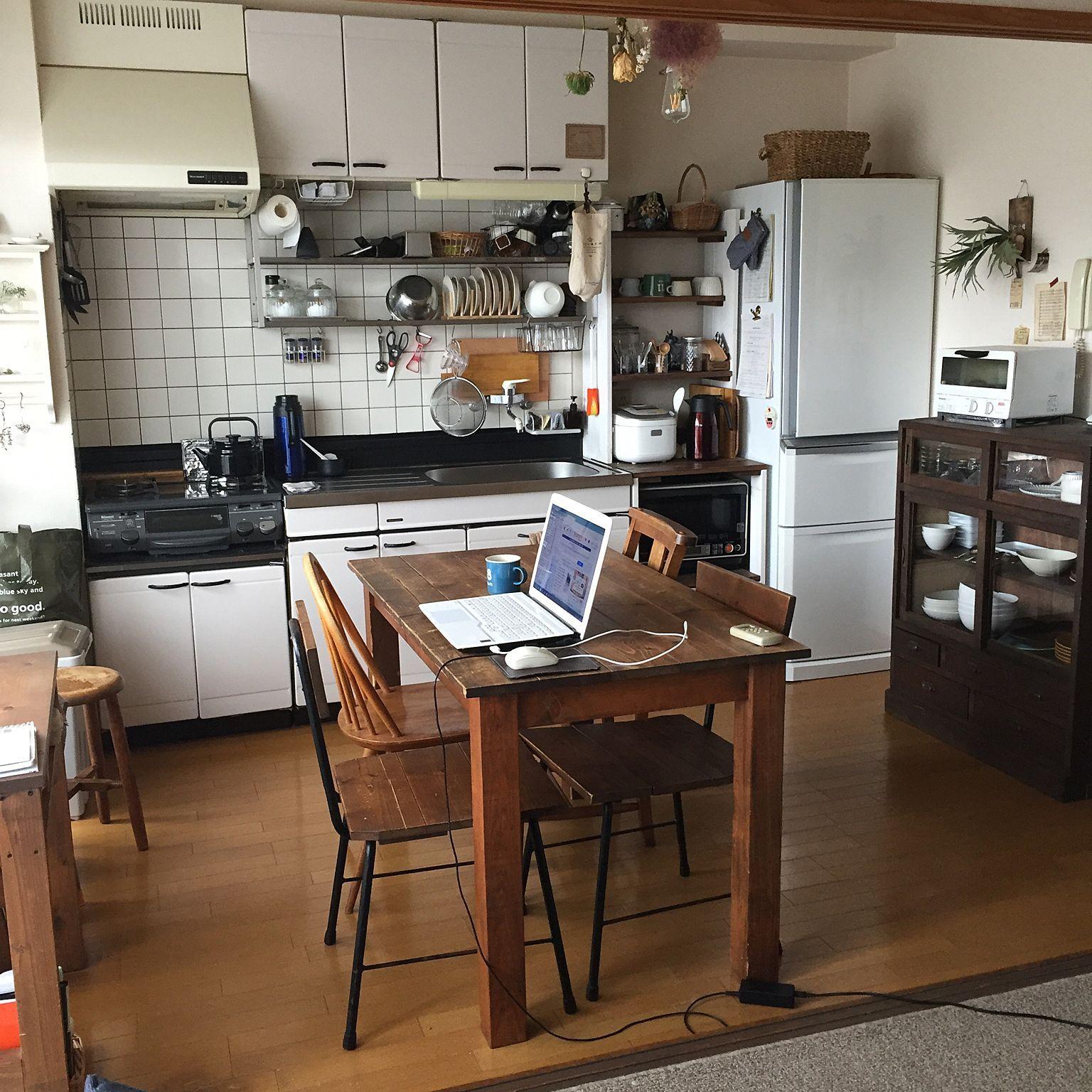 部屋全体 古道具 暮らし 賃貸暮らし 賃貸 などのインテリア実例