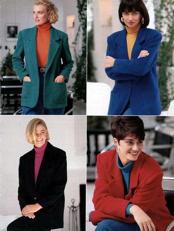 Women's Sports Coats from a 1991 catalog #1990s #fashion # ...