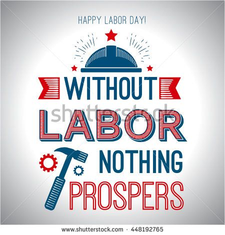 Card Quote Without Labor Nothing Prospers Stock Vector (Royalty Free) 448192765