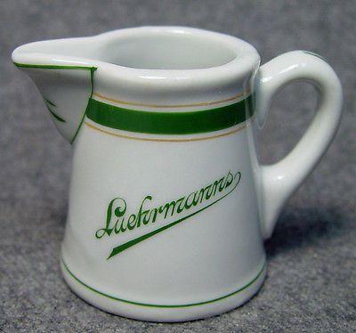 Luehrmanns Hotel Restaurant Advertising Club Logo China Creamer Memphis TN