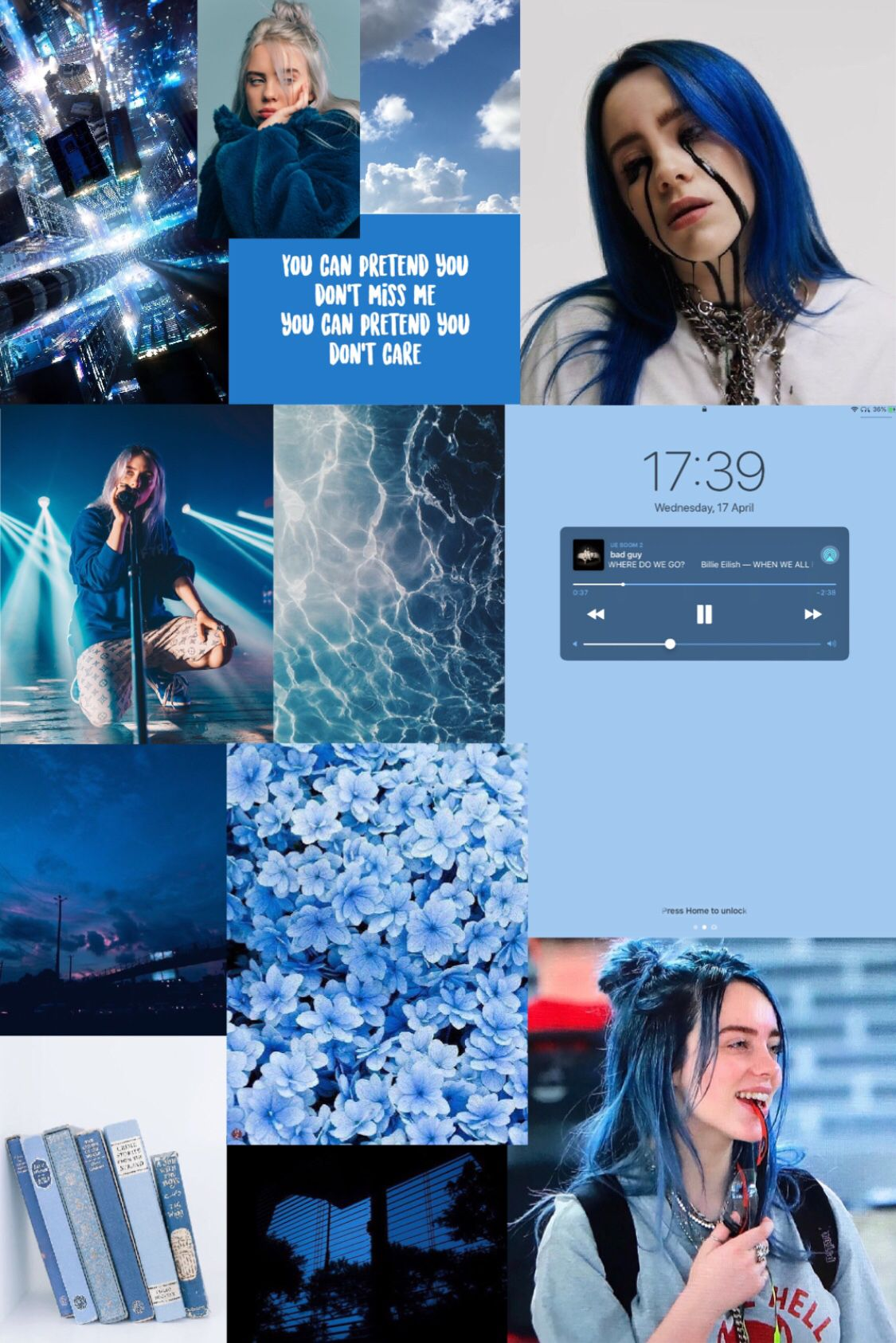 Billie Eilish Wallpaper Black Aesthetic Wallpaper Edgy Wallpaper Blue Wallpaper Iphone