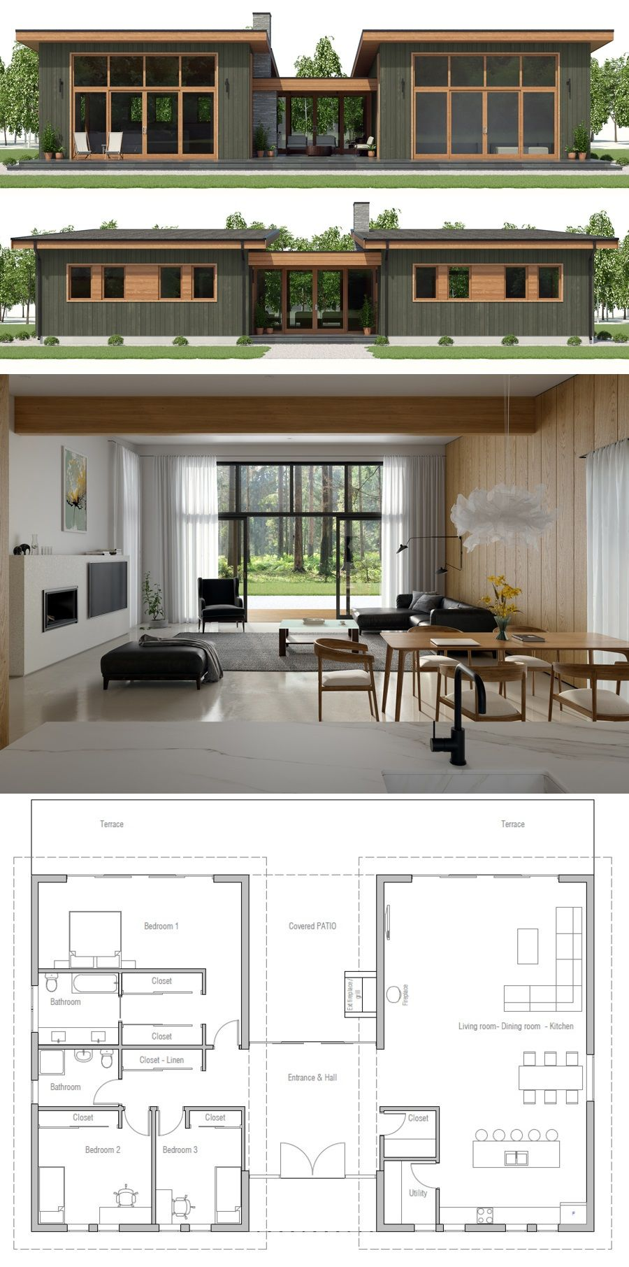House plan ch also best plans narrow lot images in dream rh pinterest