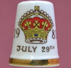Royal Albert China - Special Collections - Thimbles Charles and Diana'''s Wedding