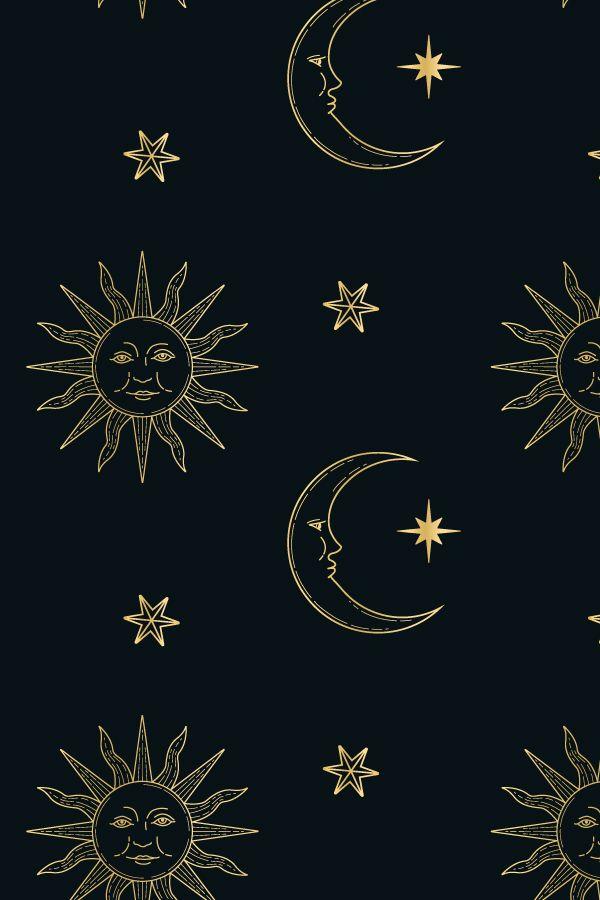 Gold Celestial Pattern