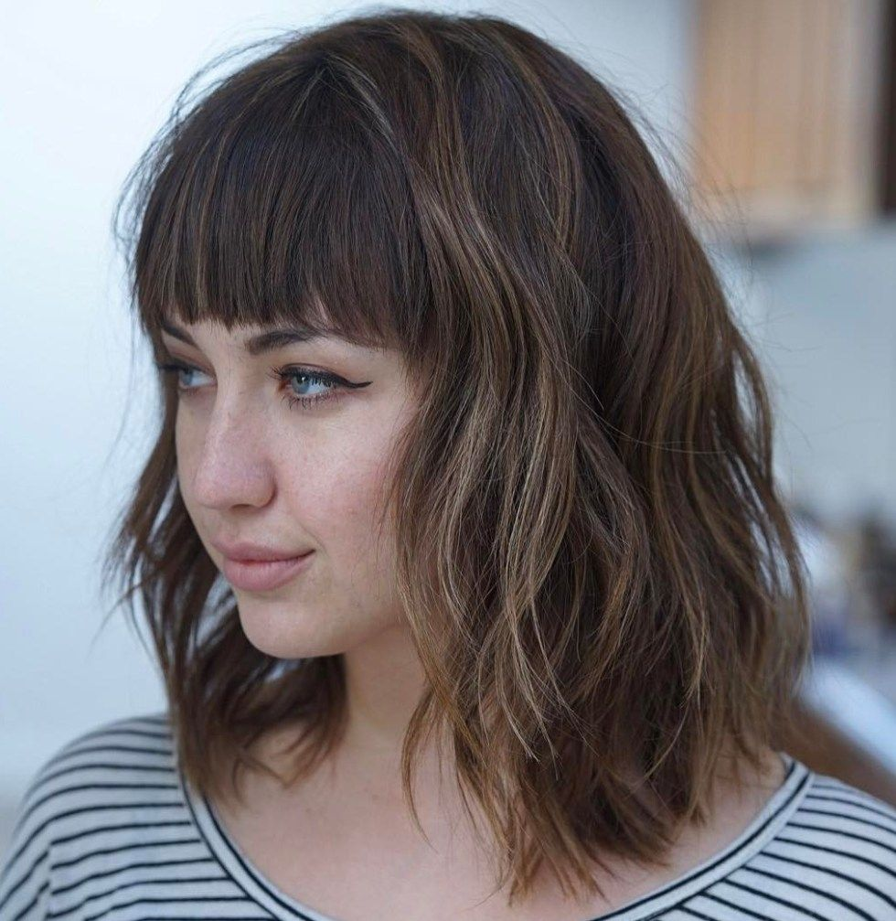 20 Modern Ways To Style A Long Bob With Bangs Long Bob Haircut With Bangs Long Layered Bob Hairstyles Lob Haircut With Bangs