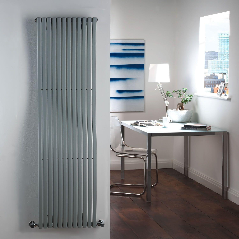 palero silver vertical single panel designer radiator. Black Bedroom Furniture Sets. Home Design Ideas