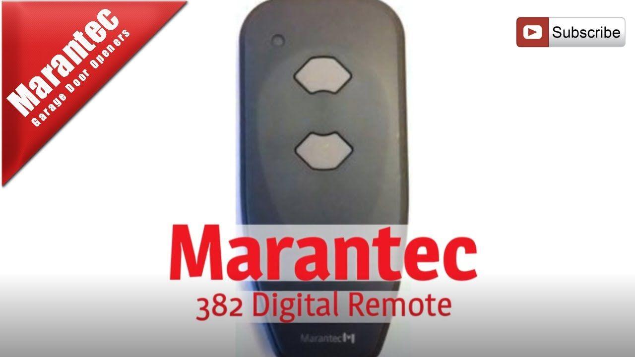 Marantec 382 Digital Remote Garage Doors Garage Door Opener Remote