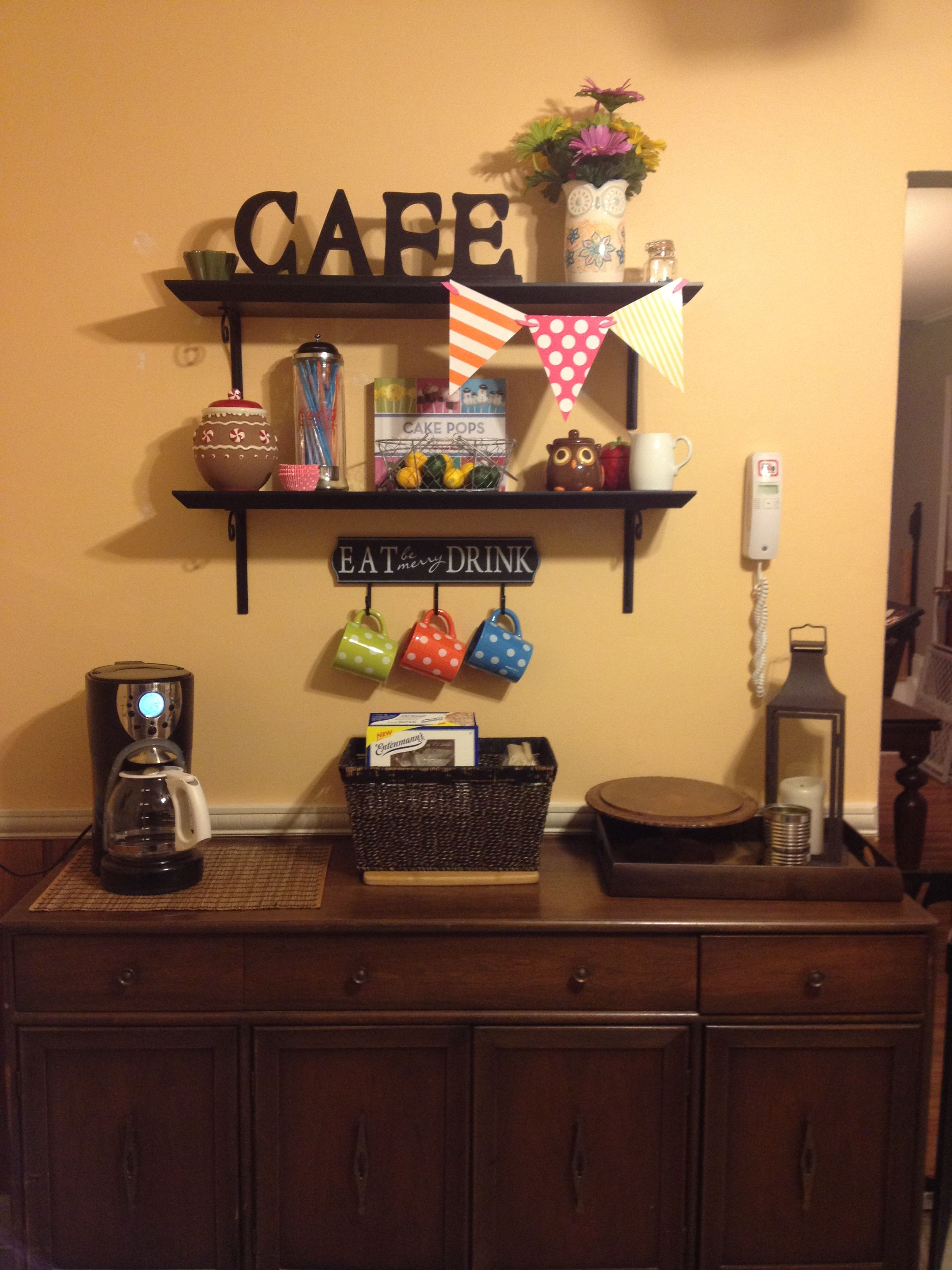 Kitchen Decor Coffee Corner Minus The Flags Is That Lol