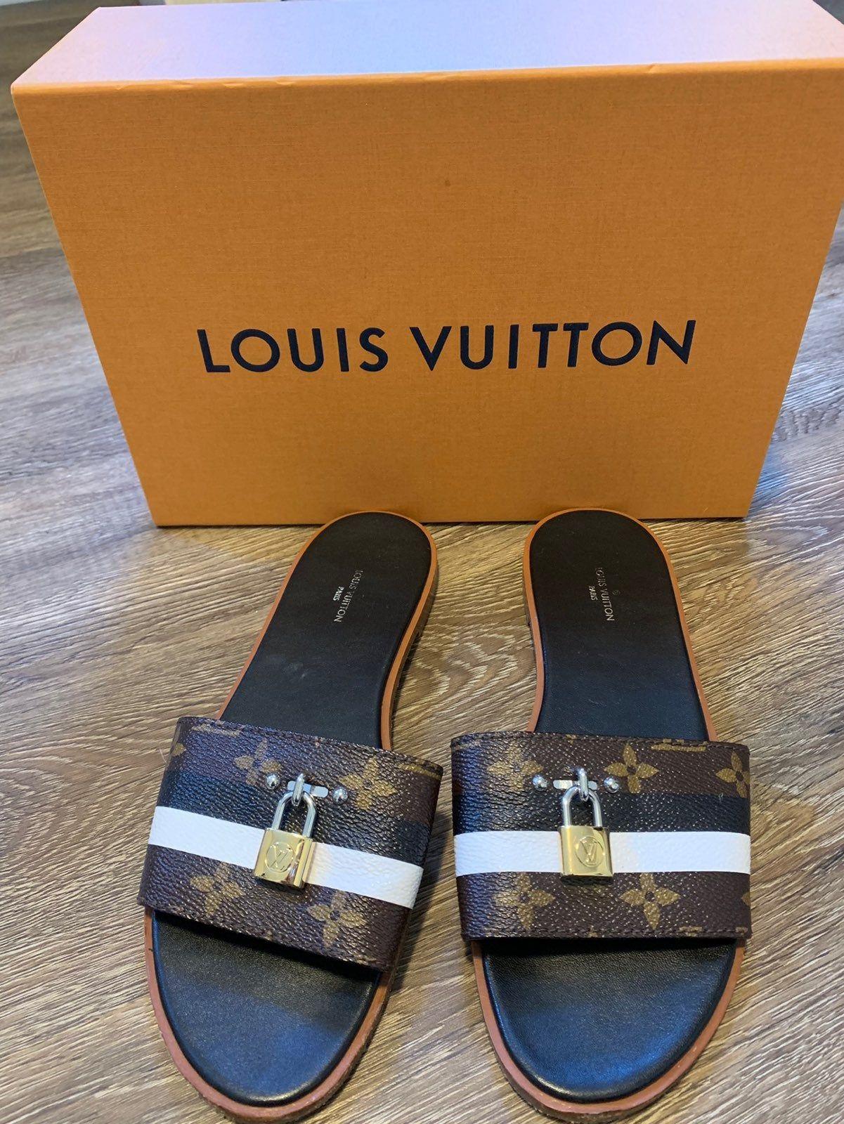 Authentic Louis Vuitton sandals. Size 38. ( I wear a size ...